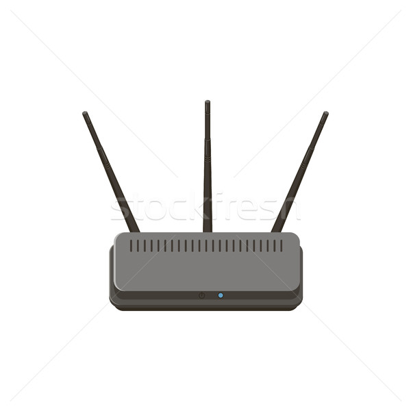 Wireless Router Symbol Karikatur Stil isoliert Stock foto © ylivdesign