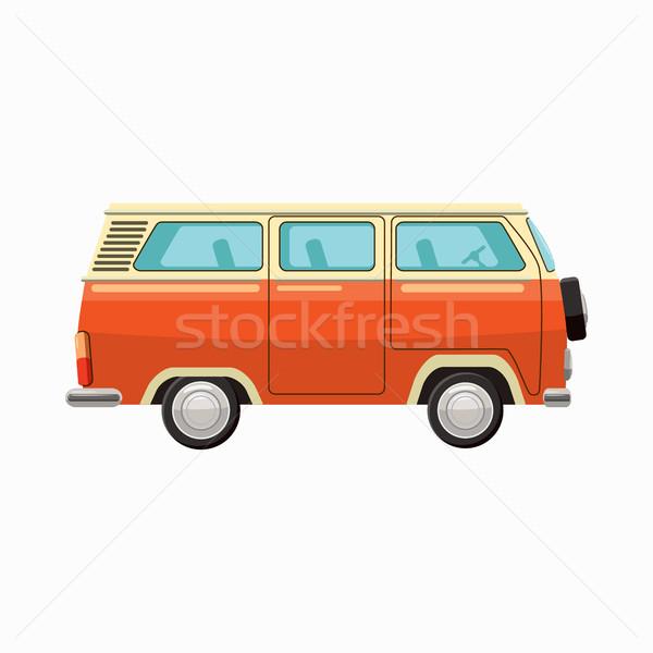 Autobus ikona cartoon stylu odizolowany biały Zdjęcia stock © ylivdesign