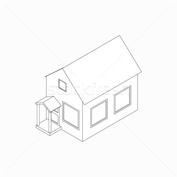 Bungalow icône isométrique 3D style porche Photo stock © ylivdesign