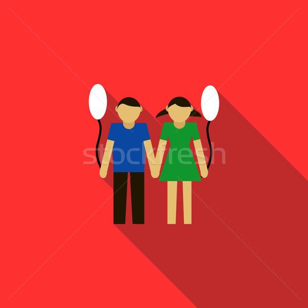 子供 アイコン スタイル 赤 パーティ 学校 ストックフォト © ylivdesign