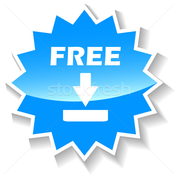 ücretsiz indirmek mavi ikon web beyaz Stok fotoğraf © ylivdesign
