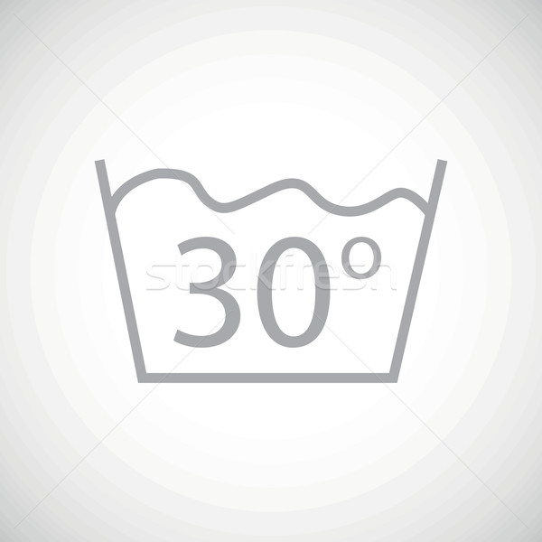 Grey 30 degrees wash icon Stock photo © ylivdesign