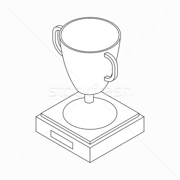 Trofeum kubek zwycięzca ikona izometryczny 3D Zdjęcia stock © ylivdesign