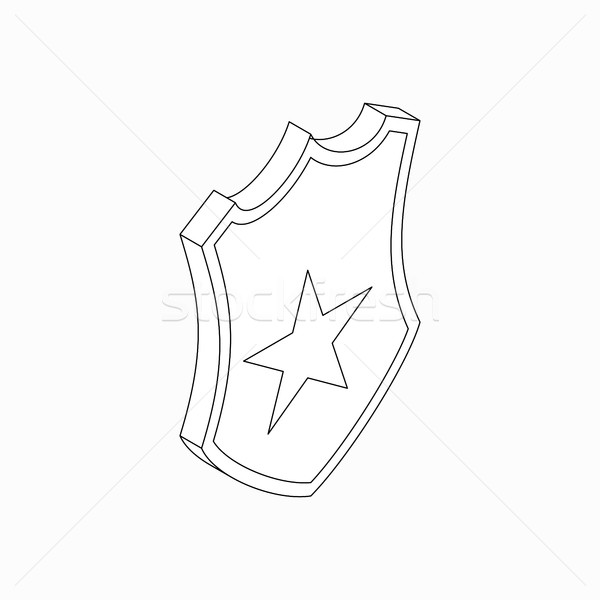 Schild star icon isometrische 3D stijl Stockfoto © ylivdesign