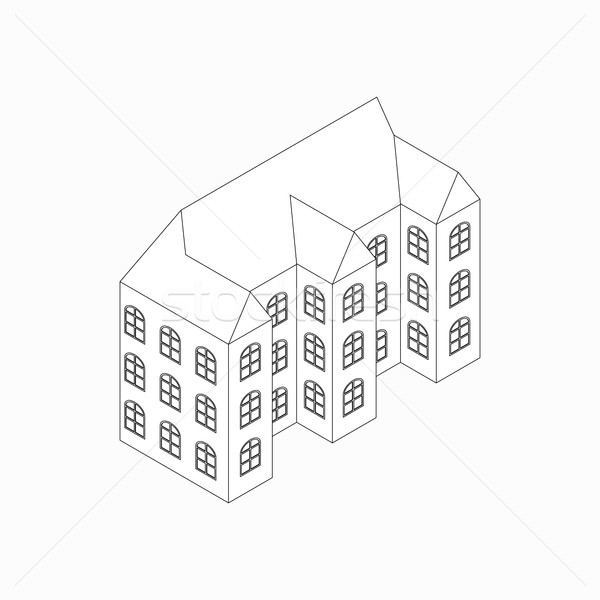 Apartment building icon, isometric 3d style   Stock photo © ylivdesign