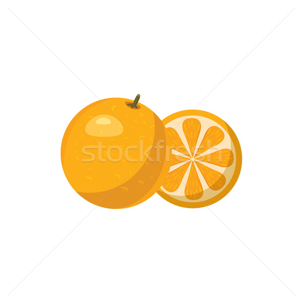 Mandarin icon in cartoon style Stock photo © ylivdesign