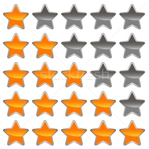 öt szett háló csillag tapéta digitális Stock fotó © ylivdesign