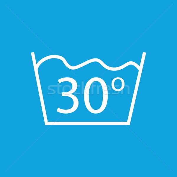 30 mos ikon kép felirat izolált Stock fotó © ylivdesign