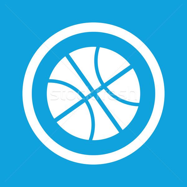 Koszykówki podpisania ikona obraz piłka kółko Zdjęcia stock © ylivdesign