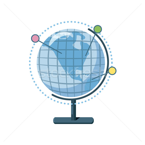 Globe icon, cartoon style Stock photo © ylivdesign