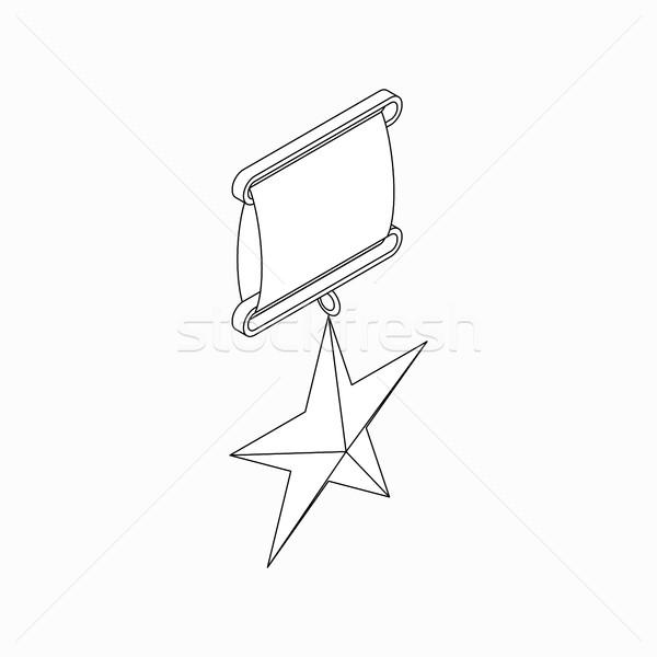 Om star icon isometrische 3D stijl Stockfoto © ylivdesign