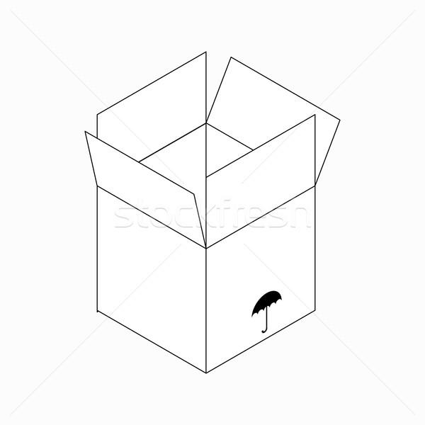 Stock fotó: Száraz · csomagolás · szimbólum · ikon · izometrikus · 3D