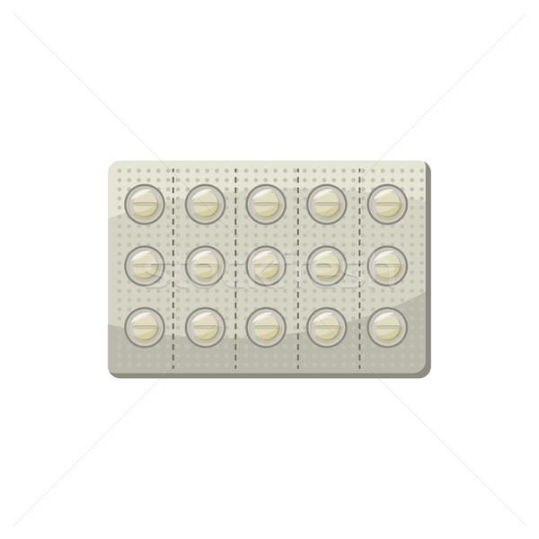 錠剤 ブリスター パック アイコン 漫画 スタイル ストックフォト © ylivdesign