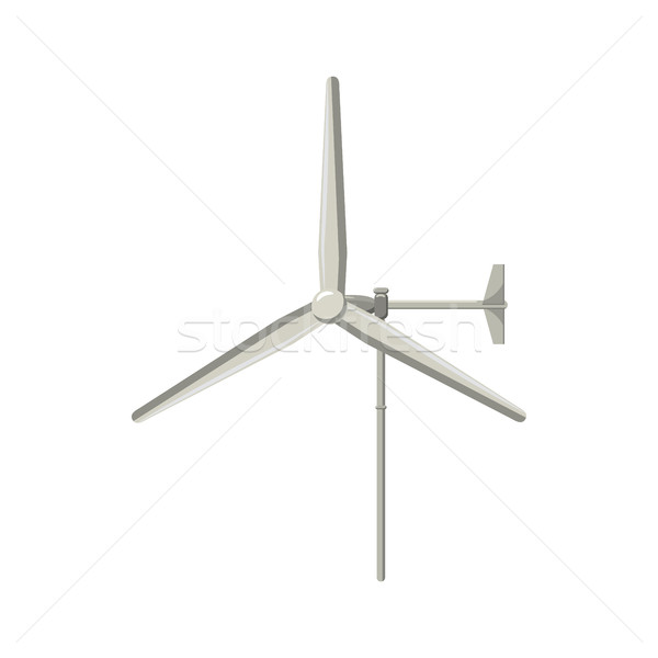Windmill for electric power production icon Stock photo © ylivdesign