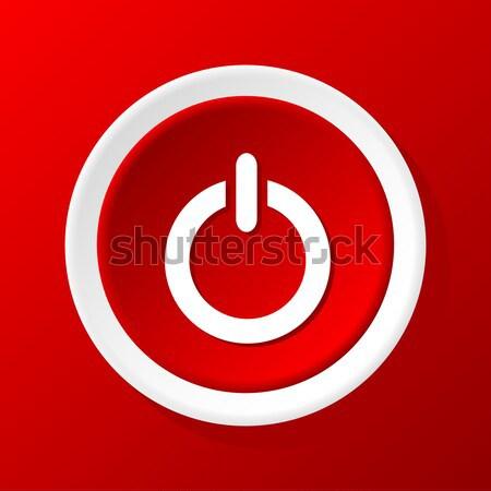 Erő gomb absztrakt terv kapcsoló számítógép Stock fotó © ylivdesign