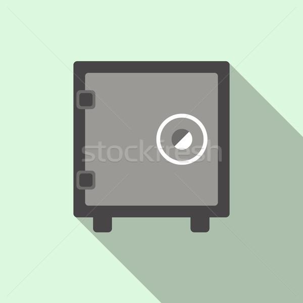 Security safe icon, flat style  Stock photo © ylivdesign
