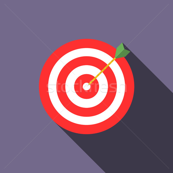 Target icon in flat style  Stock photo © ylivdesign