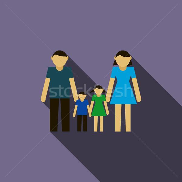 家族 アイコン スタイル バイオレット 女性 少女 ストックフォト © ylivdesign