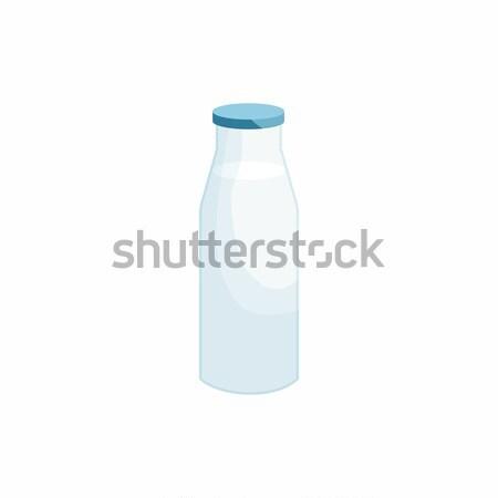 Bottle of milk icon, cartoon style Stock photo © ylivdesign