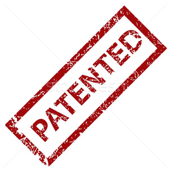 Patenteado carimbo ilustração branco vermelho etiqueta Foto stock © ylivdesign