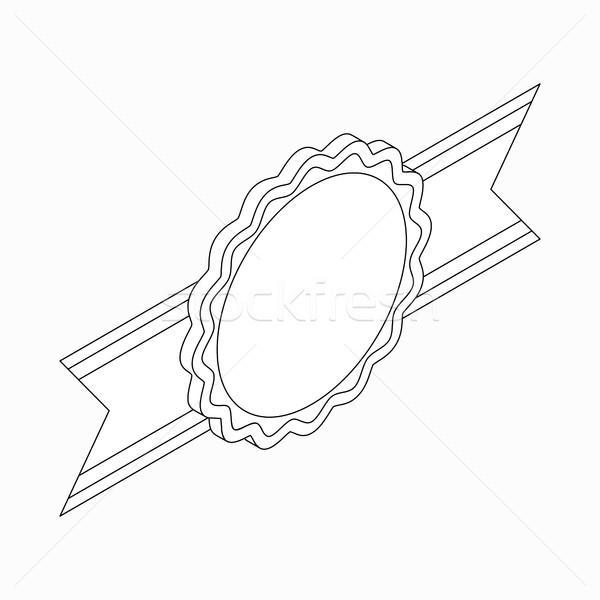 Szalag ikon izometrikus 3D stílus fehér Stock fotó © ylivdesign