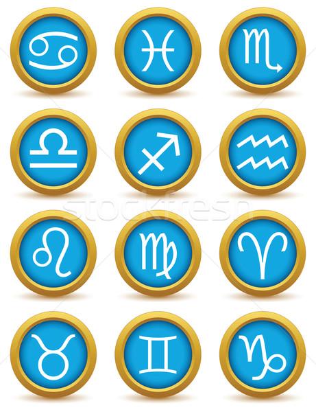 ゾディアック セット アイコン シンボル 孤立した ストックフォト © ylivdesign