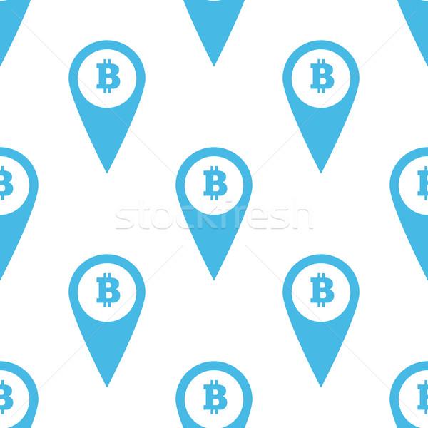 Bitcoin minta kék kép térkép jelző Stock fotó © ylivdesign