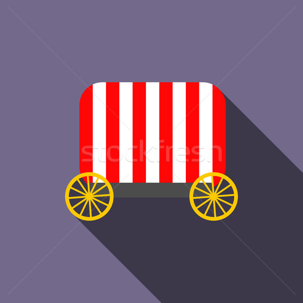 サーカス ワゴン アイコン スタイル バイオレット 車 ストックフォト © ylivdesign