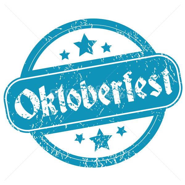Oktoberfest azul grunge estrellas aislado Foto stock © ylivdesign