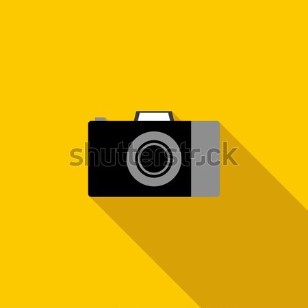Camera icon in flat style Stock photo © ylivdesign