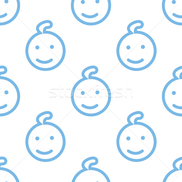 Kid seamless pattern Stock photo © ylivdesign