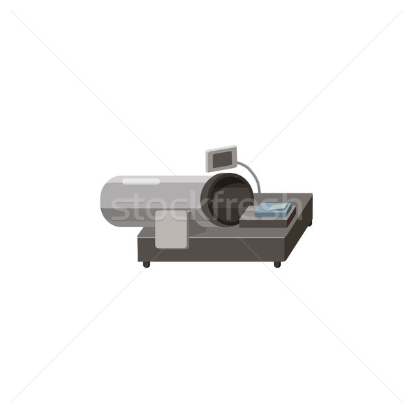 Magnetisch mri icon cartoon stijl witte Stockfoto © ylivdesign