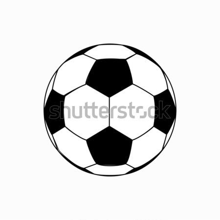 Futballabda ikon izometrikus 3D stílus izolált Stock fotó © ylivdesign