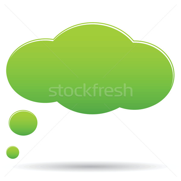 Thought cloud bubble Stock photo © ylivdesign