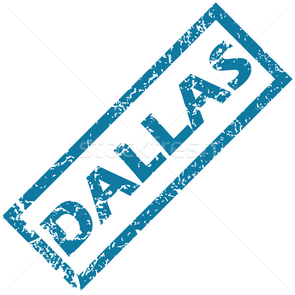 Dallas vector azul ciudad nombre Foto stock © ylivdesign