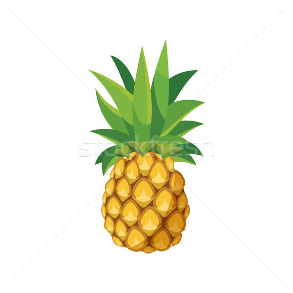 Ananas icône cartoon style blanche alimentaire Photo stock © ylivdesign