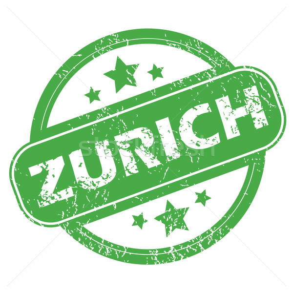 Zurich green stamp Stock photo © ylivdesign