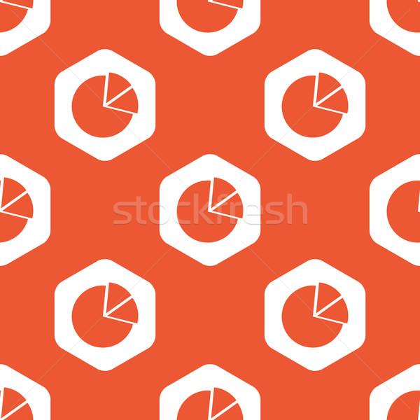 Orange hexagon diagram pattern Stock photo © ylivdesign