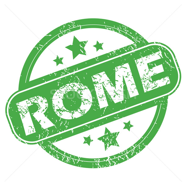 Rome green stamp Stock photo © ylivdesign