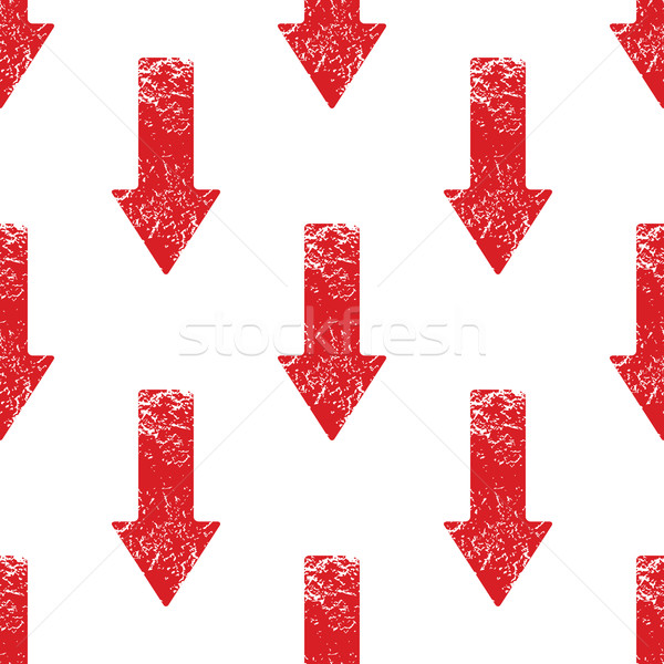 Red down arrow pattern Stock photo © ylivdesign