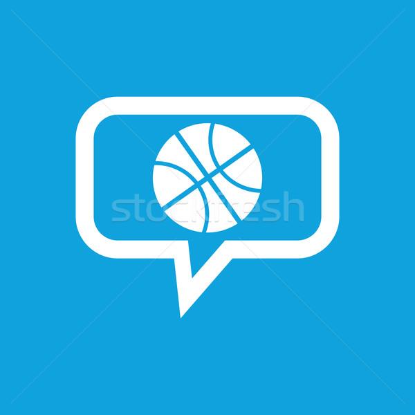 バスケットボール メッセージ アイコン 画像 ボール バブルチャット ストックフォト © ylivdesign