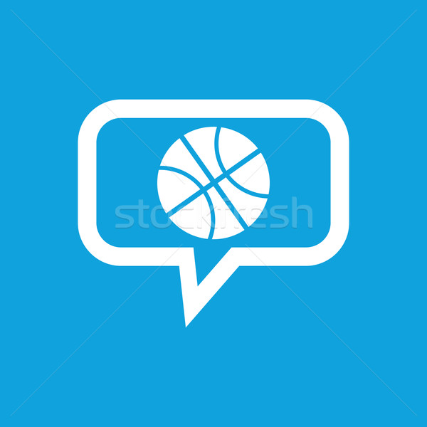 Basketbal bericht icon afbeelding bal chatten bubble Stockfoto © ylivdesign