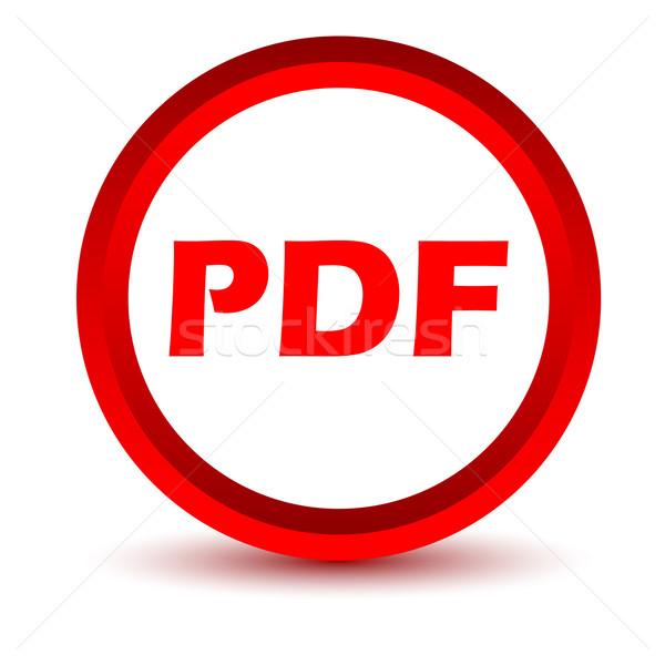 красный pdf икона белый кнопки WWW Сток-фото © ylivdesign