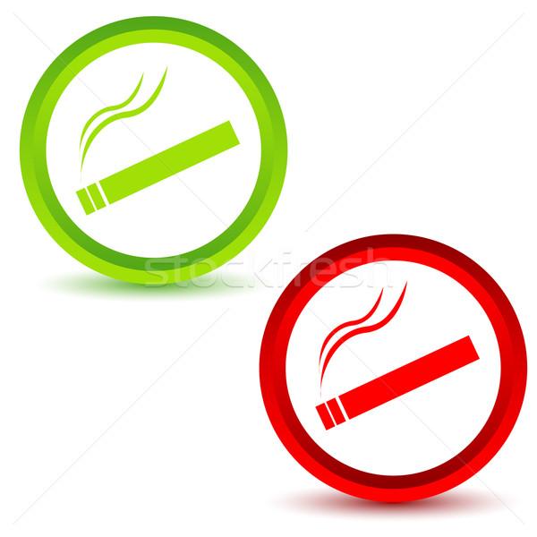 Smoking icons set Stock photo © ylivdesign