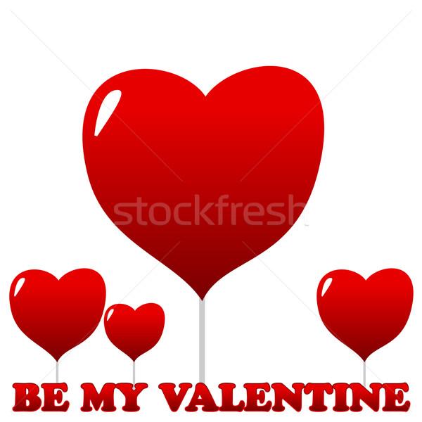 Valentine`s day card Stock photo © ylivdesign