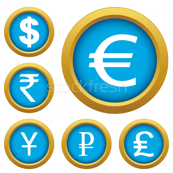 Money set buttons Stock photo © ylivdesign