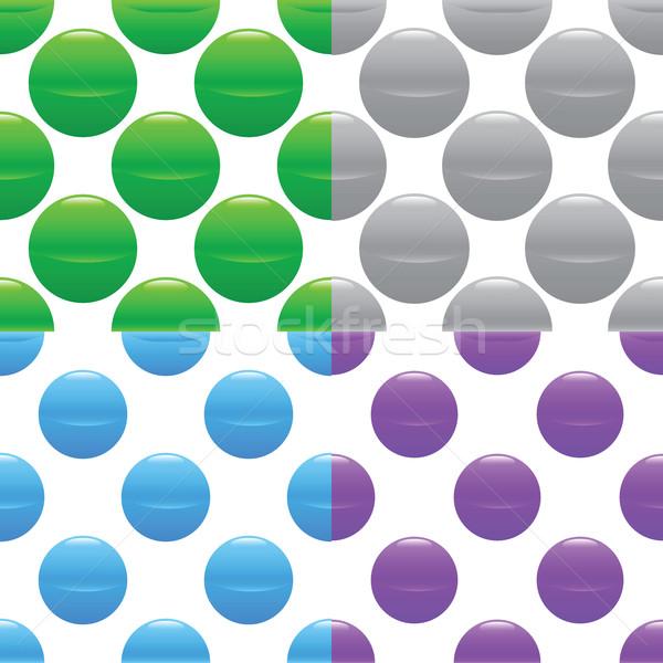 Sphere pattern set Stock photo © ylivdesign