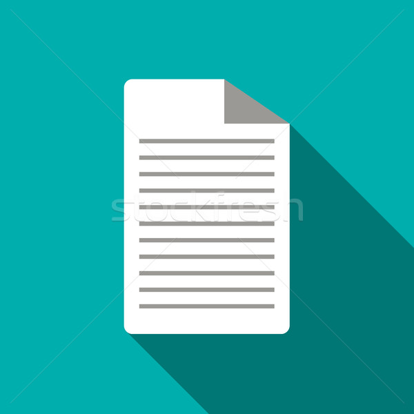 Lined paper icon, flat style Stock photo © ylivdesign