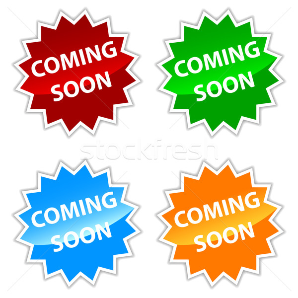 Vector coming soon labels set Stock photo © ylivdesign