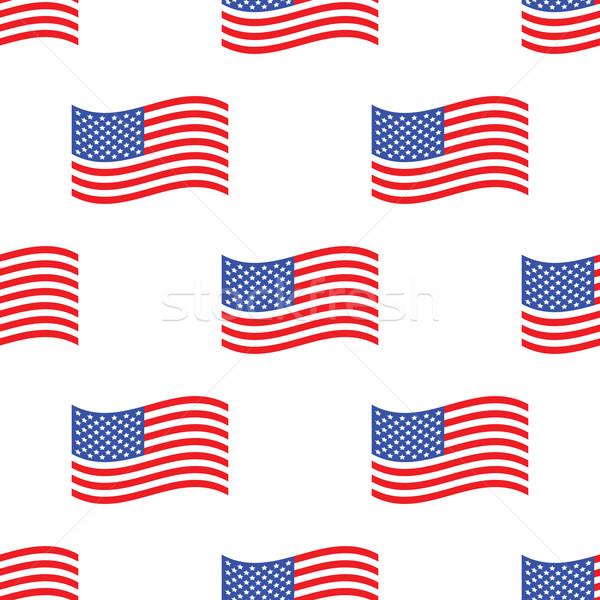7ec692fb8348 American flag pattern vector illustration © Ivan Ryabokon ...
